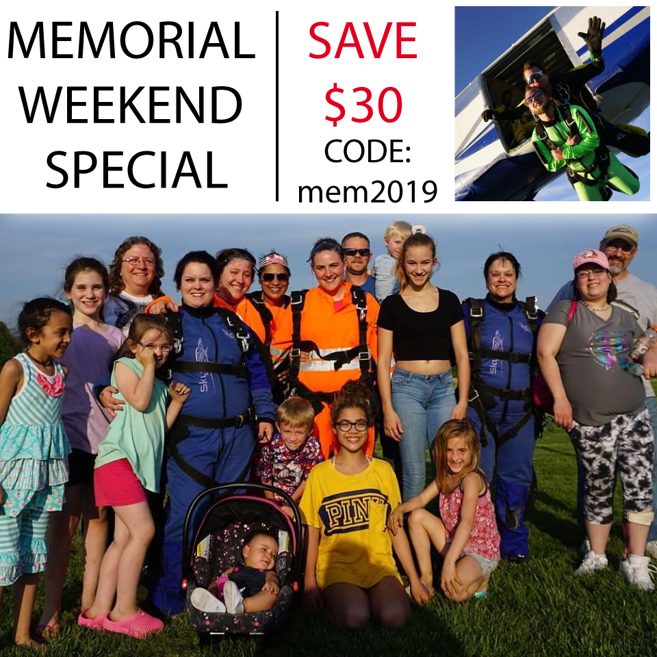 Memorial Weekend Savings $30 off!